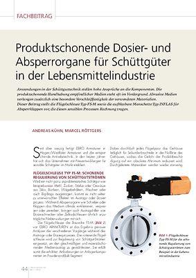 TEMP » Produktschonende Dosier- und Absperrorgane für Schüttgüter in der Lebensmittelindustrie