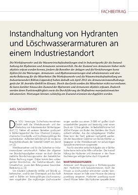 TEMP » Instandhaltung von Hydranten und Löschwasserarmaturen an einem Industriestandort