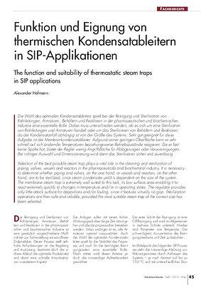 TEMP » Funktion und Eignung von thermischen Kondensatableitern in SIP-Applikationen