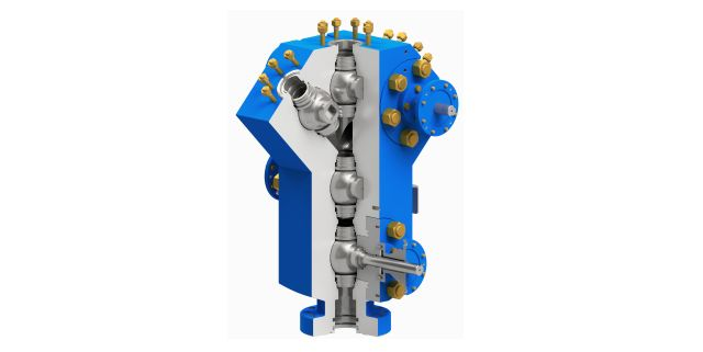 Ball valves in integrated design
