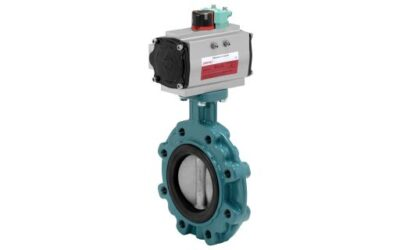 Butterfly valve for highest loads