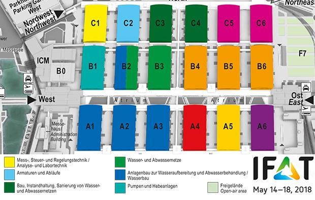 IFAT: Neue Hallenverteilung