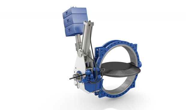 New butterfly valve with double-function