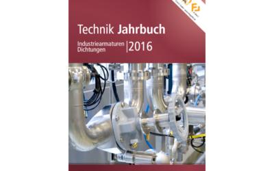 Technik-Jahrbuch Industriearmaturen, Dichtungen 2016 erschienen