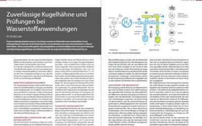 Zuverlässige Kugelhähne und Prüfungen für Wasserstoffanwendungen