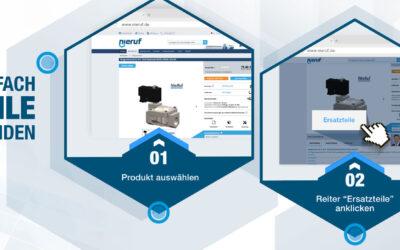 Neue interaktive online Servicefunktion zur Auswahl von Armaturen