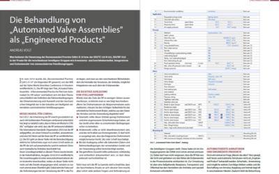 CONVAL 11 mit neuem Modul für Automatisierte Armaturenbaugruppen