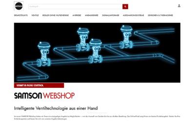 SAMSON startet Webshop für Komponenten und Ersatzteile in Deutschland