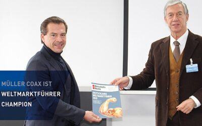"""müller co-ax ag jetzt Mitglied des Weltmarkführer-Indexes """"Champion"""""""