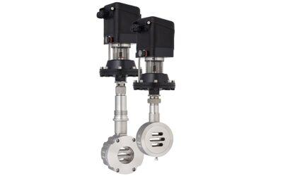 Extrem kleines Gleitschieberstellventil mit Membranantrieb und integriertem, digitalem Stellungsregler
